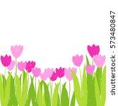 vector spring tulip flower... | Shutterstock .eps vector #573480847