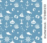 vector seamless pattern with... | Shutterstock .eps vector #573484153