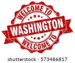 washington. welcome to... | Shutterstock .eps vector #573486817