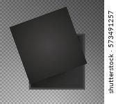 black open empty squares... | Shutterstock .eps vector #573491257