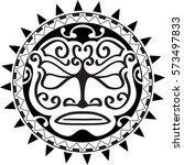maori sun design for real... | Shutterstock .eps vector #573497833