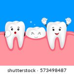 new tooth character growing up. ... | Shutterstock .eps vector #573498487