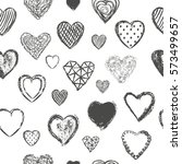 heart seamless pattern vector... | Shutterstock .eps vector #573499657