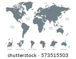 gray world map vector on white... | Shutterstock .eps vector #573515503