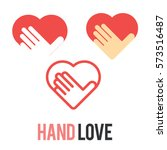 love hand logo icon symbol set | Shutterstock .eps vector #573516487