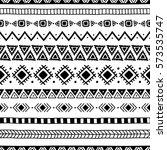 seamless ethnic pattern.... | Shutterstock .eps vector #573535747