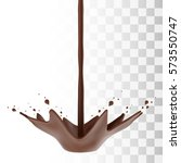 hot chocolate flow with crown... | Shutterstock .eps vector #573550747