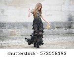 paris march 8  2016. famous... | Shutterstock . vector #573558193