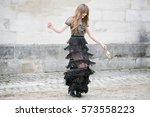 paris march 8  2016. famous... | Shutterstock . vector #573558223