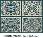 laser cutting wall pattern... | Shutterstock .eps vector #573565867