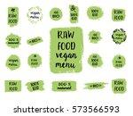 retro set of 100  bio  organic  ...   Shutterstock .eps vector #573566593