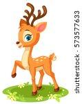 cute baby deer in pose | Shutterstock .eps vector #573577633