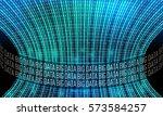 futuristic vector backdrop and... | Shutterstock .eps vector #573584257