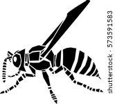 wasp vector illustration | Shutterstock .eps vector #573591583