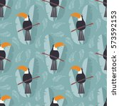 seamless pattern with cute... | Shutterstock .eps vector #573592153