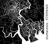ho chi minh city vector map ... | Shutterstock .eps vector #573596563