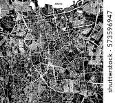 jakarta vector map  artprint.... | Shutterstock .eps vector #573596947