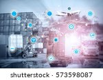 business logistics concept ... | Shutterstock . vector #573598087