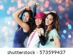 dancing pretty girls | Shutterstock . vector #573599437