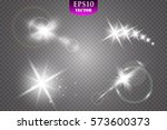 glow light effect. star burst... | Shutterstock .eps vector #573600373