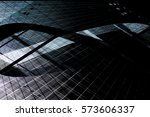 modern glass architecture with... | Shutterstock . vector #573606337