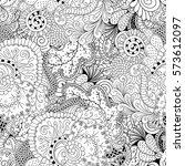 tracery seamless calming... | Shutterstock .eps vector #573612097