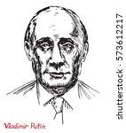 vladimir vladimirovich putin ... | Shutterstock .eps vector #573612217