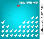 think differently   being... | Shutterstock .eps vector #573616387