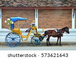 horse carriage  lampang ... | Shutterstock . vector #573621643
