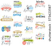 vector set of labels with ... | Shutterstock .eps vector #573623587