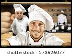 Cook Chef With Team In Kitchen...