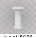 white podium tribune rostrum... | Shutterstock .eps vector #573627067