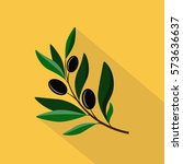 olive branch yellow | Shutterstock .eps vector #573636637