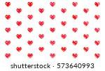 valentines heart pattern 3d...   Shutterstock . vector #573640993