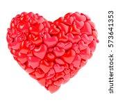 glossy heart 3d illustration   Shutterstock . vector #573641353