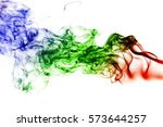 colored smoke isolated on white ...   Shutterstock . vector #573644257