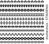 vector set of geometric black... | Shutterstock .eps vector #573658963