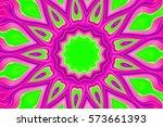 Floral  Mandala On Color...