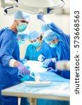 hard working doctors during... | Shutterstock . vector #573668563