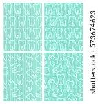 set of dental seamless patterns ... | Shutterstock .eps vector #573674623
