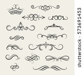 flourish scroll vector design... | Shutterstock .eps vector #573691453