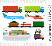 transport vehicles  plane and... | Shutterstock .eps vector #573691477