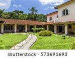 visitor's center in itatiaia... | Shutterstock . vector #573691693