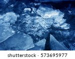 Blue Ice. Color Photo.