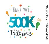 thank you design template for... | Shutterstock .eps vector #573707707