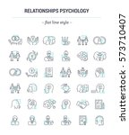 vector graphic set.icons in... | Shutterstock .eps vector #573710407