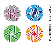 abstract round logo element.... | Shutterstock .eps vector #573713527