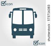 bus icon. schoolbus symbol.... | Shutterstock .eps vector #573716383