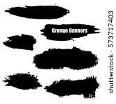vector template set of grunge... | Shutterstock .eps vector #573717403