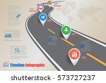 design template  road map... | Shutterstock .eps vector #573727237